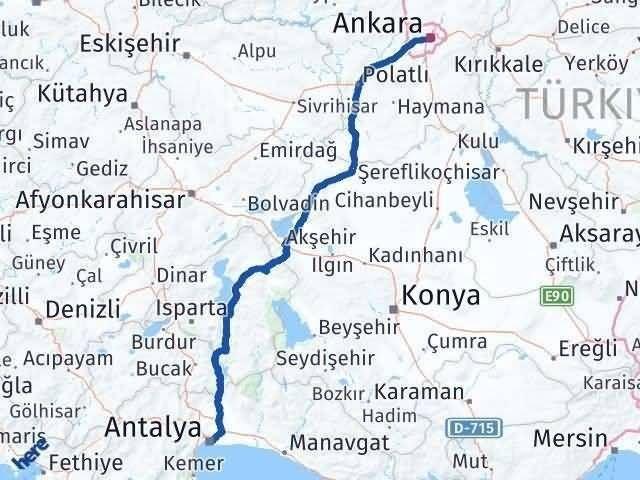 Antalya ile Ankara Arası Kaç Km? Kaç Saat? Arası Kaç Km Saat? Nerede Yol Haritası Yakıt, Rota ve Mesafe Hesaplama