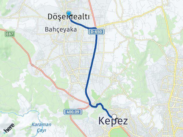 Antalya Döşemealtı Kepez Arası Kaç Km? Arası Kaç Km Saat? Nerede Yol Haritası Yakıt, Rota ve Mesafe Hesaplama