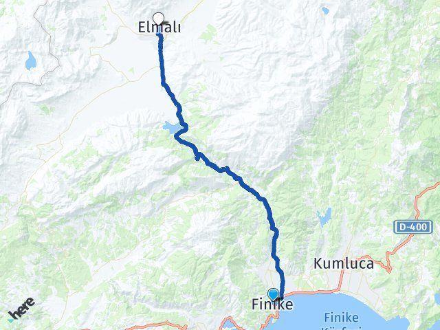 Antalya Finike Elmalı Arası Kaç Km? Arası Kaç Km Saat? Nerede Yol Haritası Yakıt, Rota ve Mesafe Hesaplama