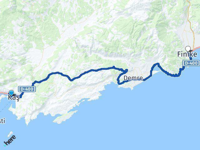 Antalya Kaş Finike Arası Kaç Km? Arası Kaç Km Saat? Nerede Yol Haritası Yakıt, Rota ve Mesafe Hesaplama