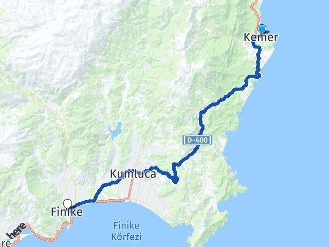 Kemer Antalya Finike Arası Kaç Km? Arası Kaç Km Saat? Nerede Yol Haritası Yakıt, Rota ve Mesafe Hesaplama