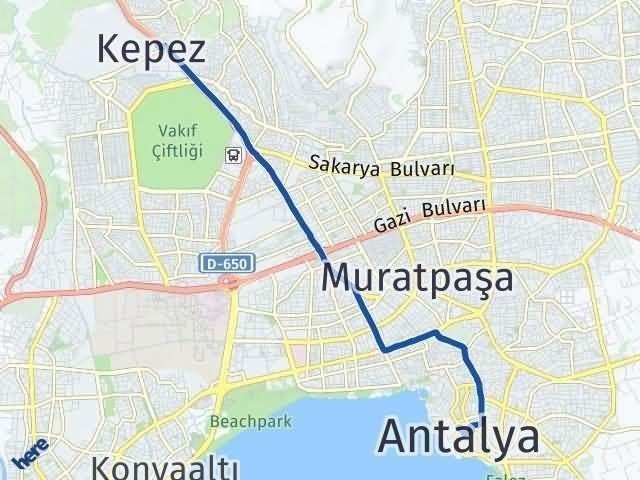 Antalya Kepez Arası Kaç Km Arası Kaç Km Saat? Nerede Yol Haritası Yakıt, Rota ve Mesafe Hesaplama