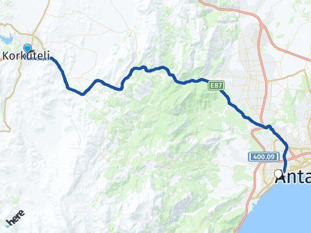 Antalya Korkuteli Konyaaltı Arası Kaç Km? Arası Kaç Km Saat? Nerede Yol Haritası Yakıt, Rota ve Mesafe Hesaplama