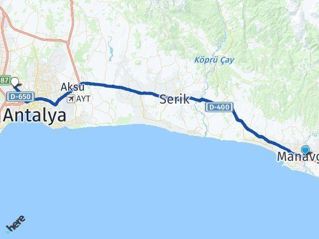 Antalya Manavgat Kepez Arası Kaç Km? Arası Kaç Km Saat? Nerede Yol Haritası Yakıt, Rota ve Mesafe Hesaplama