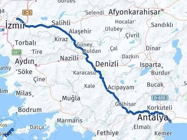 Antalya ile Manisa Arası Kaç Km? Kaç Saat? Arası Kaç Km Saat? Nerede Yol Haritası Yakıt, Rota ve Mesafe Hesaplama