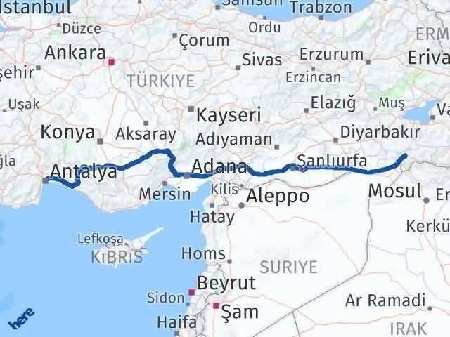 Antalya ile Şırnak Arası Kaç Km? Kaç Saat? Arası Kaç Km Saat? Nerede Yol Haritası Yakıt, Rota ve Mesafe Hesaplama