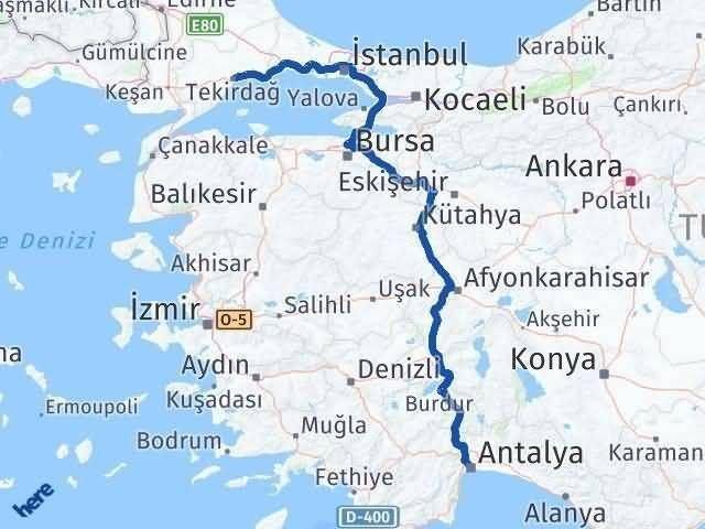 Antalya ile Tekirdağ Arası Kaç Km? Kaç Saat? Arası Kaç Km Saat? Nerede Yol Haritası Yakıt, Rota ve Mesafe Hesaplama