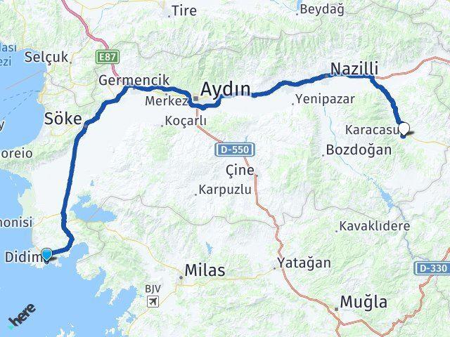 Aydın Didim Karacasu Arası Kaç Km? Arası Kaç Km Saat? Nerede Yol Haritası Yakıt, Rota ve Mesafe Hesaplama
