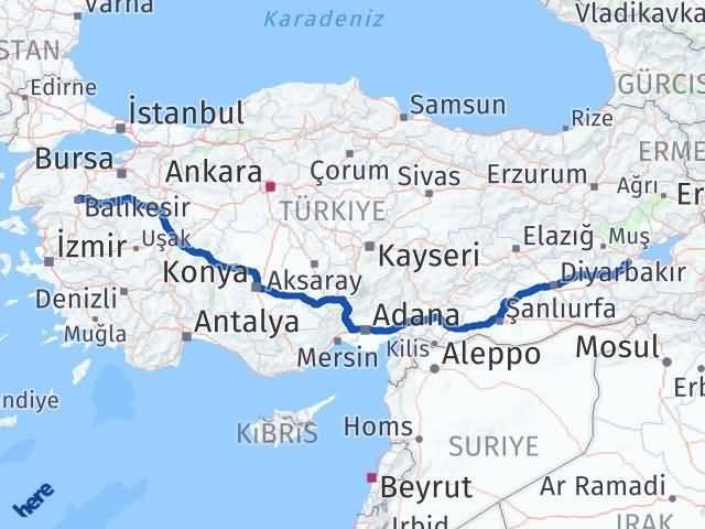 Balıkesir ile Bitlis Arası Kaç Km? Kaç Saat? Arası Kaç Km Saat? Nerede Yol Haritası Yakıt, Rota ve Mesafe Hesaplama