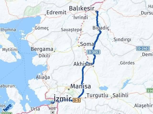 Balıkesir ile İzmir Arası Kaç Km? Kaç Saat? Arası Kaç Km Saat? Nerede Yol Haritası Yakıt, Rota ve Mesafe Hesaplama