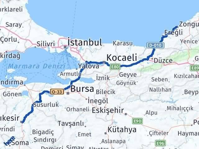Balıkesir Zonguldak Arası Kaç Km - Kaç Saat? Arası Kaç Km Saat? Nerede Yol Haritası Yakıt, Rota ve Mesafe Hesaplama