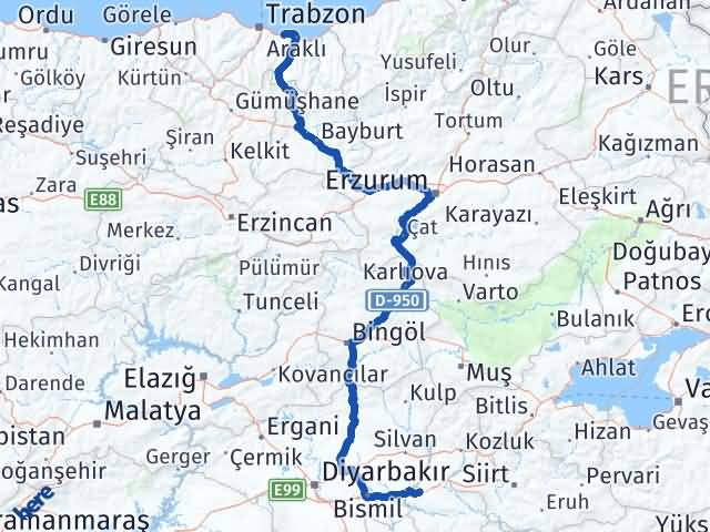 Batman Arsin Trabzon Arası Kaç Km? - Kmhesaplama.com Arası Kaç Km Saat? Nerede Yol Haritası Yakıt, Rota ve Mesafe Hesaplama