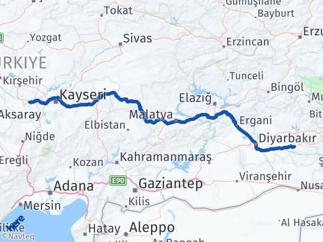 Batman Avanos Nevşehir Arası Kaç Km? - Kmhesaplama.com Arası Kaç Km Saat? Nerede Yol Haritası Yakıt, Rota ve Mesafe Hesaplama
