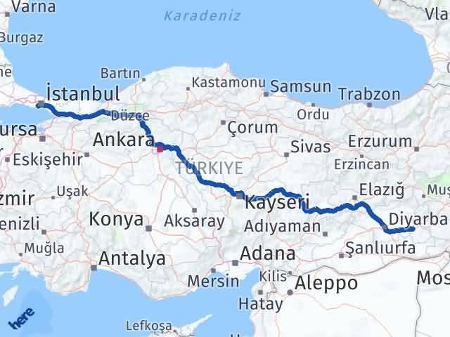 Batman Bakırköy İstanbul Arası Kaç Km? - Kmhesaplama.com Arası Kaç Km Saat? Nerede Yol Haritası Yakıt, Rota ve Mesafe Hesaplama