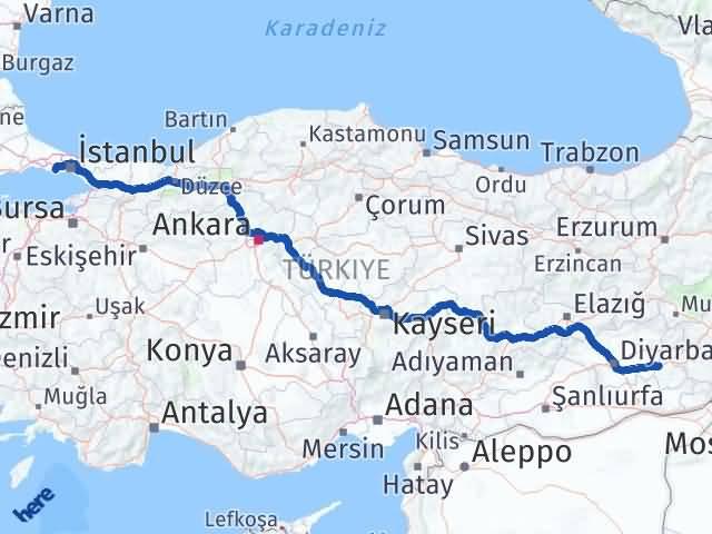 Batman Beylikdüzü İstanbul Arası Kaç Km? - Kmhesaplama.com Arası Kaç Km Saat? Nerede Yol Haritası Yakıt, Rota ve Mesafe Hesaplama