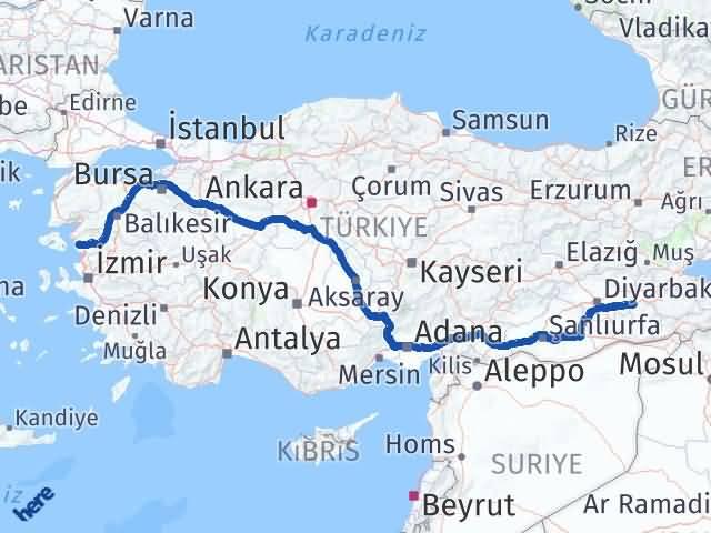 Batman Dikili İzmir Arası Kaç Km? - Kmhesaplama.com Arası Kaç Km Saat? Nerede Yol Haritası Yakıt, Rota ve Mesafe Hesaplama