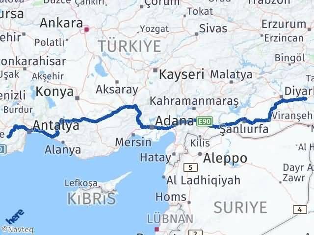 Batman Elmalı Antalya Arası Kaç Km? - Kmhesaplama.com Arası Kaç Km Saat? Nerede Yol Haritası Yakıt, Rota ve Mesafe Hesaplama