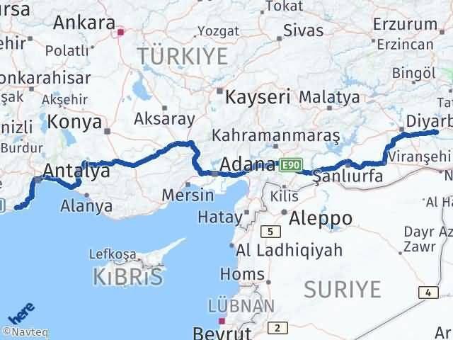 Batman Finike Antalya Arası Kaç Km? - Kmhesaplama.com Arası Kaç Km Saat? Nerede Yol Haritası Yakıt, Rota ve Mesafe Hesaplama