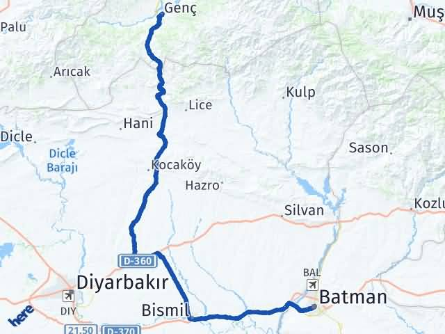 Batman Genç Bingöl Arası Kaç Km? - Kmhesaplama.com Arası Kaç Km Saat? Nerede Yol Haritası Yakıt, Rota ve Mesafe Hesaplama