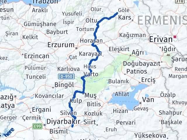 Batman Göle Ardahan Arası Kaç Km? - Kmhesaplama.com Arası Kaç Km Saat? Nerede Yol Haritası Yakıt, Rota ve Mesafe Hesaplama