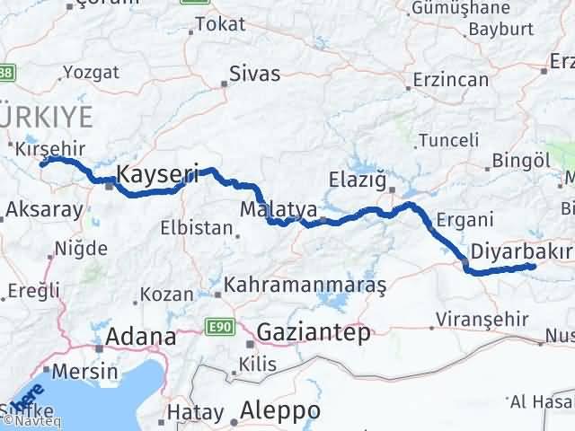 Batman Hacıbektaş Nevşehir Arası Kaç Km? - Kmhesaplama.com Arası Kaç Km Saat? Nerede Yol Haritası Yakıt, Rota ve Mesafe Hesaplama