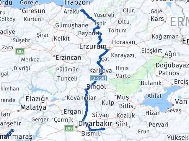 Batman Hayrat Trabzon Arası Kaç Km? - Kmhesaplama.com Arası Kaç Km Saat? Nerede Yol Haritası Yakıt, Rota ve Mesafe Hesaplama