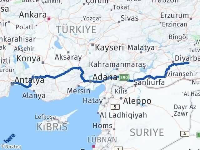 Batman Kepez Antalya Arası Kaç Km? - Kmhesaplama.com Arası Kaç Km Saat? Nerede Yol Haritası Yakıt, Rota ve Mesafe Hesaplama