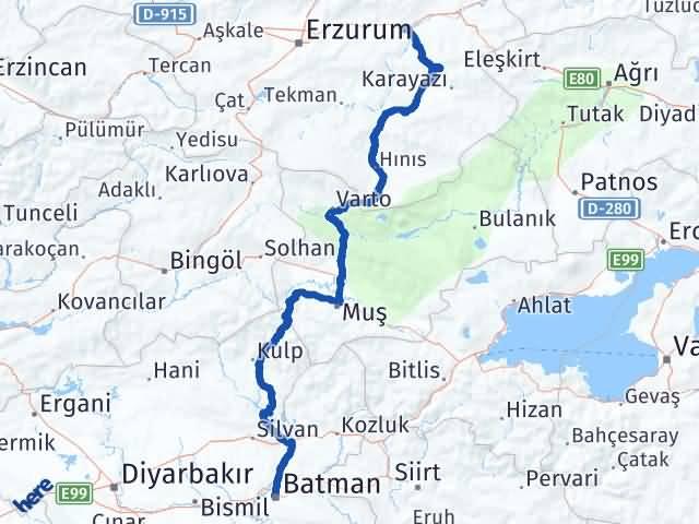 Batman Köprüköy Erzurum Arası Kaç Km? - Kmhesaplama.com Arası Kaç Km Saat? Nerede Yol Haritası Yakıt, Rota ve Mesafe Hesaplama