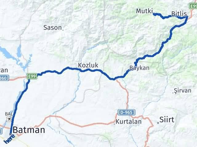 Batman Mutki Bitlis Arası Kaç Km? - Kmhesaplama.com Arası Kaç Km Saat? Nerede Yol Haritası Yakıt, Rota ve Mesafe Hesaplama