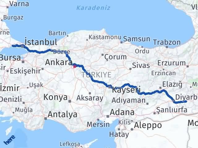 Batman Silivri İstanbul Arası Kaç Km? - Kmhesaplama.com Arası Kaç Km Saat? Nerede Yol Haritası Yakıt, Rota ve Mesafe Hesaplama