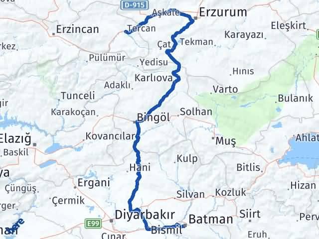 Batman Tercan Erzincan Arası Kaç Km? - Kmhesaplama.com Arası Kaç Km Saat? Nerede Yol Haritası Yakıt, Rota ve Mesafe Hesaplama