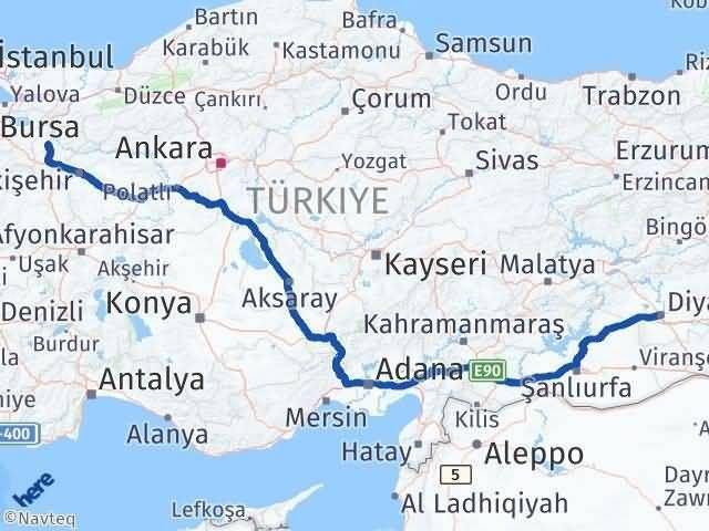 Bilecik ile Diyarbakır Arası Kaç Km? Kaç Saat? Arası Kaç Km Saat? Nerede Yol Haritası Yakıt, Rota ve Mesafe Hesaplama