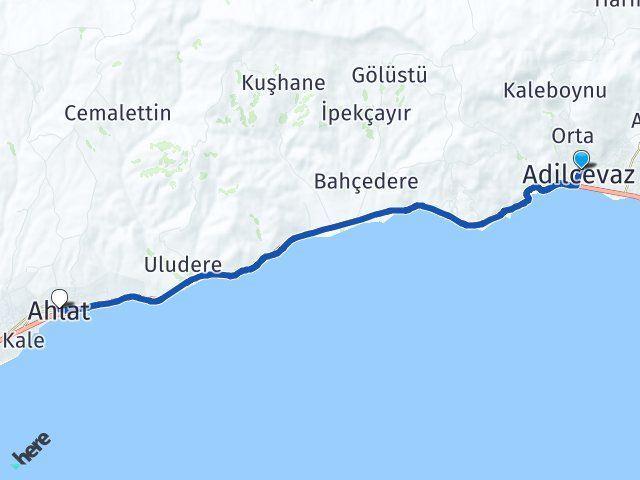 Bitlis Adilcevaz Ahlat Arası Kaç Km? Arası Kaç Km Saat? Nerede Yol Haritası Yakıt, Rota ve Mesafe Hesaplama