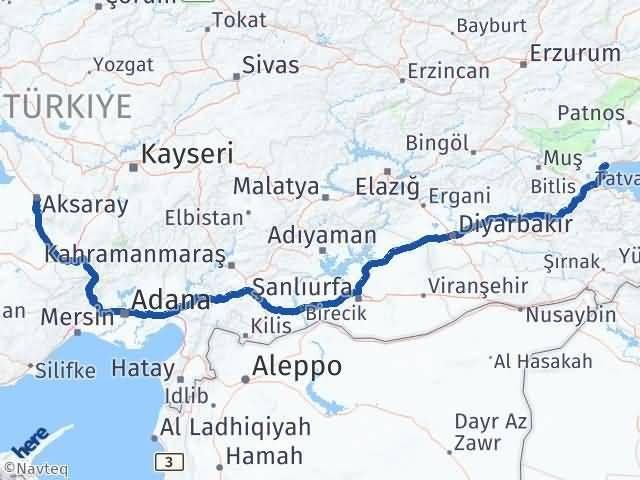 Bitlis Ahlat Aksaray Arası Kaç Km? Arası Kaç Km Saat? Nerede Yol Haritası Yakıt, Rota ve Mesafe Hesaplama