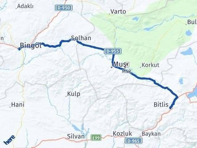 Bitlis ile Bingöl Arası Kaç Km? Kaç Saat? - Kmhesaplama.com Arası Kaç Km Saat? Nerede Yol Haritası Yakıt, Rota ve Mesafe Hesaplama