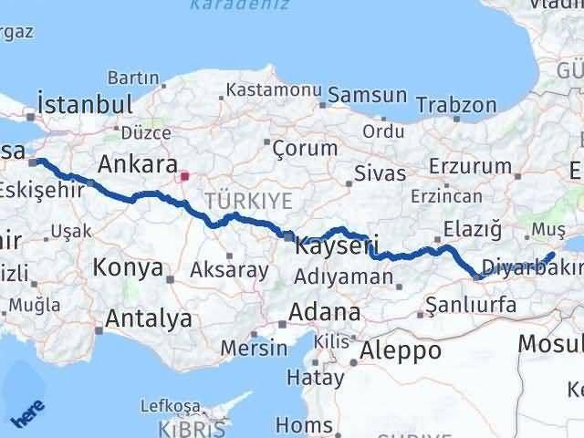 Bitlis ile Bursa Arası Kaç Km? Kaç Saat? - Kmhesaplama.com Arası Kaç Km Saat? Nerede Yol Haritası Yakıt, Rota ve Mesafe Hesaplama