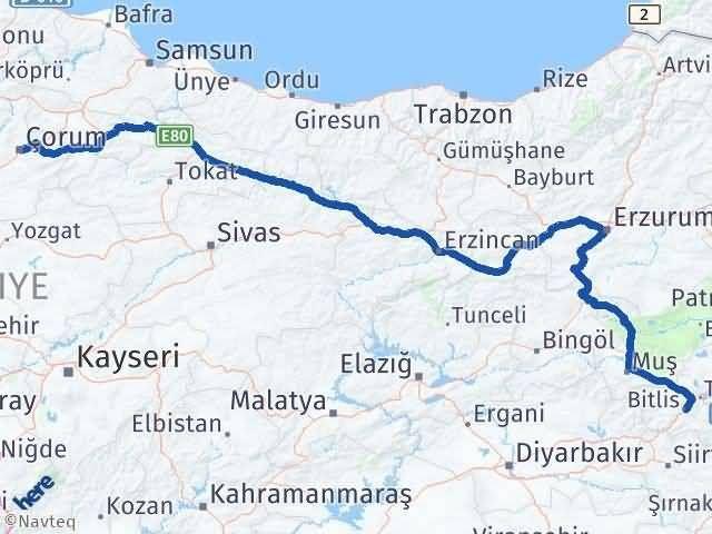 Bitlis ile Çorum Arası Kaç Km? Kaç Saat? - Kmhesaplama.com Arası Kaç Km Saat? Nerede Yol Haritası Yakıt, Rota ve Mesafe Hesaplama