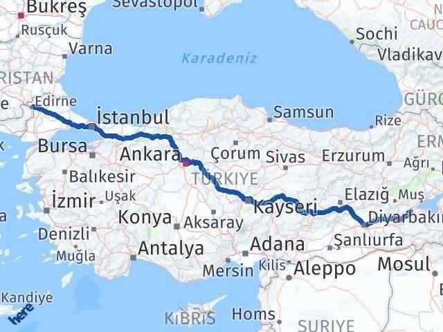 Bitlis ile Edirne Arası Kaç Km? Kaç Saat? - Kmhesaplama.com Arası Kaç Km Saat? Nerede Yol Haritası Yakıt, Rota ve Mesafe Hesaplama