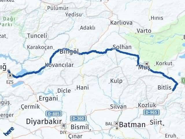 Bitlis ile Elazığ Arası Kaç Km? Kaç Saat? - Kmhesaplama.com Arası Kaç Km Saat? Nerede Yol Haritası Yakıt, Rota ve Mesafe Hesaplama