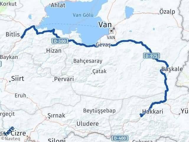 Bitlis ile Hakkari Arası Kaç Km? Kaç Saat? Arası Kaç Km Saat? Nerede Yol Haritası Yakıt, Rota ve Mesafe Hesaplama