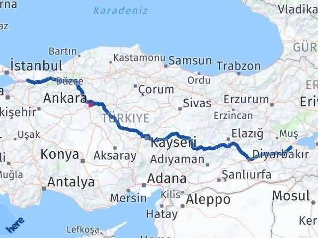 Bitlis ile Kocaeli Arası Kaç Km? Kaç Saat? Arası Kaç Km Saat? Nerede Yol Haritası Yakıt, Rota ve Mesafe Hesaplama
