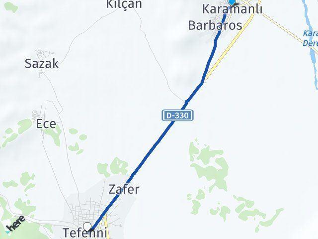 Burdur Karamanlı Tefenni Arası Kaç Km? Arası Kaç Km Saat? Nerede Yol Haritası Yakıt, Rota ve Mesafe Hesaplama