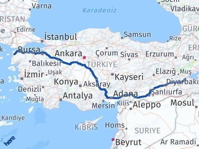 Çanakkale Bitlis Arası Kaç Km - Kaç Saat? Arası Kaç Km Saat? Nerede Yol Haritası Yakıt, Rota ve Mesafe Hesaplama