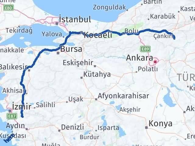 Çankırı Bayındır İzmir Arası Kaç Km? - Kmhesaplama.com Arası Kaç Km Saat? Nerede Yol Haritası Yakıt, Rota ve Mesafe Hesaplama