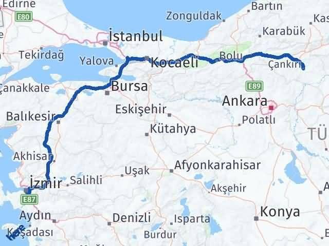 Çankırı Buca İzmir Arası Kaç Km? - Kmhesaplama.com Arası Kaç Km Saat? Nerede Yol Haritası Yakıt, Rota ve Mesafe Hesaplama