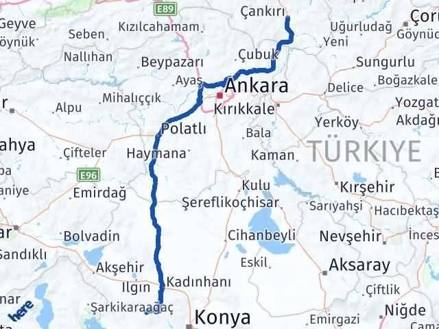 Çankırı Derbent Konya Arası Kaç Km? - Kmhesaplama.com Arası Kaç Km Saat? Nerede Yol Haritası Yakıt, Rota ve Mesafe Hesaplama
