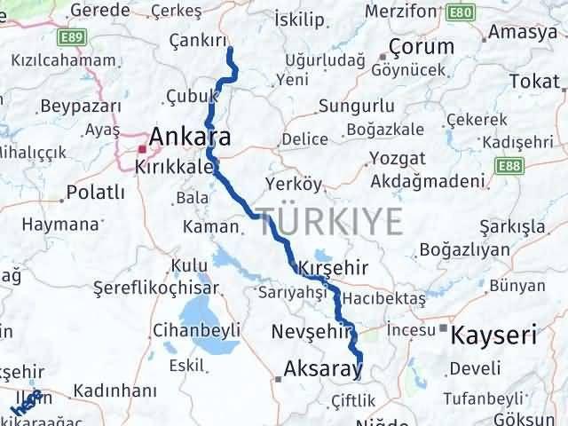 Çankırı Derinkuyu Nevşehir Arası Kaç Km? - Kmhesaplama.com Arası Kaç Km Saat? Nerede Yol Haritası Yakıt, Rota ve Mesafe Hesaplama
