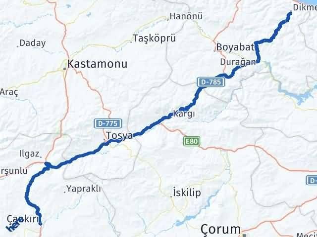 Çankırı Dikmen Sinop Arası Kaç Km? - Kmhesaplama.com Arası Kaç Km Saat? Nerede Yol Haritası Yakıt, Rota ve Mesafe Hesaplama