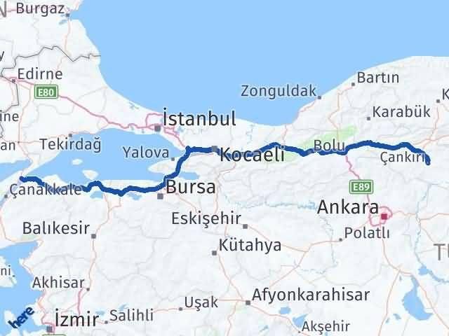 Çankırı Gelibolu Çanakkale Arası Kaç Km? - Kmhesaplama.com Arası Kaç Km Saat? Nerede Yol Haritası Yakıt, Rota ve Mesafe Hesaplama