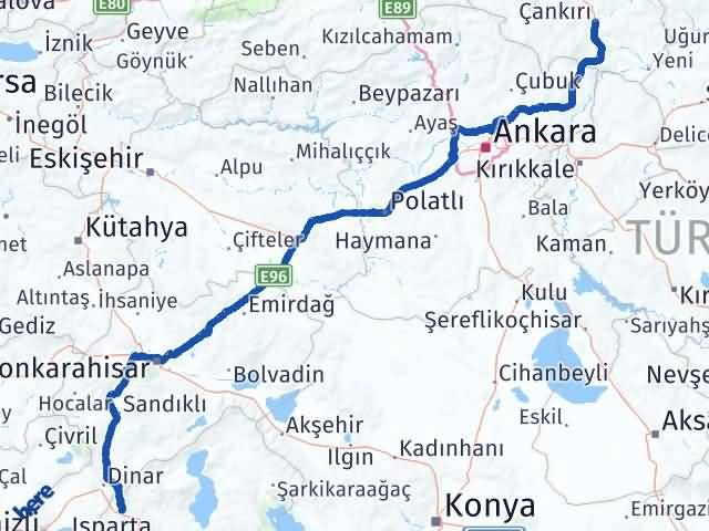 Çankırı Keçiborlu Isparta Arası Kaç Km? - Kmhesaplama.com Arası Kaç Km Saat? Nerede Yol Haritası Yakıt, Rota ve Mesafe Hesaplama